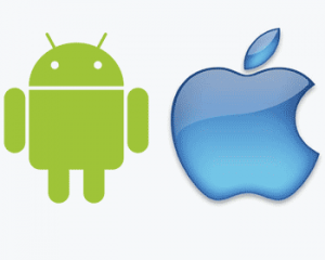 Apple iPhone and iPad and Android phones